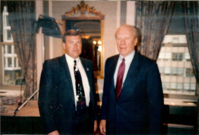 Gunner Henderson with President Gerald R. Ford, New York City, 1994.